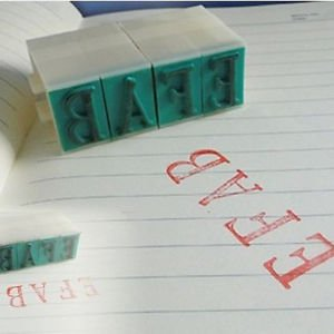 DIY Plastic Seal English Alphabet Letters Numbers Rubber Stamp Free Combination
