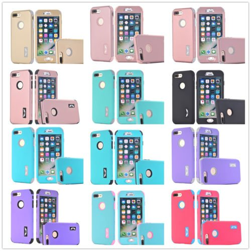 Flower Pattern 360° Full Body Hard Case Cover +Tempered Glass+Strap For iPhone