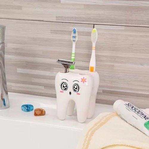 Cute Colorful Cartoon  Sucker Hook Toothbrush Holder Ladybug Bathroom Set