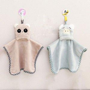 Cute Cartoon Helpful Kitchen Hanging Fleece Velvet Hand Dry Towel Wholesale