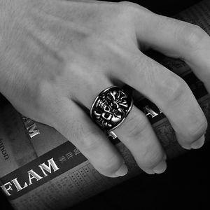 Men's Silver Demon Gothic Skull Death Stainless Steel Biker Ring Band US 7 8 New