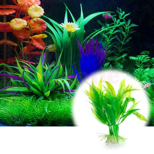 Artificial Plastic Tree Plant Grass Aquarium Fish Tank Ornament Decoration Decor