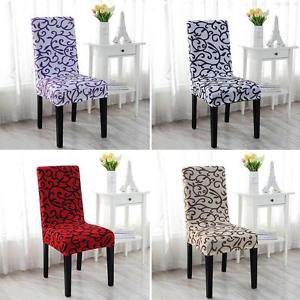Removable Stretch Slipcovers Short Dinning Room Wedding Spendex Chair Seat Cover