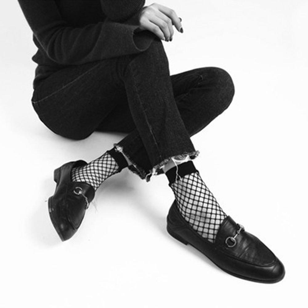 New Women Summer Black Ruffle Hollow Fishnet Net Ankle Socks Mesh Short Hosier