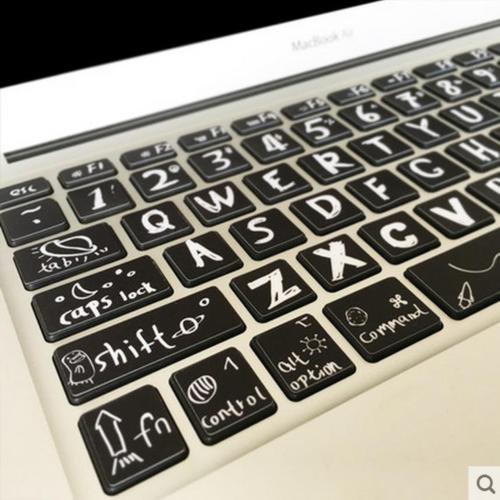 Novelty Fashion Macbook Air Pro Vinyl Sticker Decal keyboard Button Sticker 13''