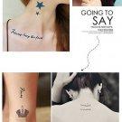 New Design Metallic Flash Temporary Tattoos Stickers Temporary Body Art Tatoo