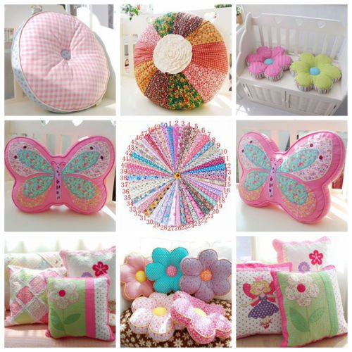 Pratical Printing Vintage Cotton Fabric Handmade Craft DIY Cloth Sewing Set