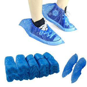 Household Rain Waterproof Disposable Shoe Covers Overshoes Boot Covers 20Pairs