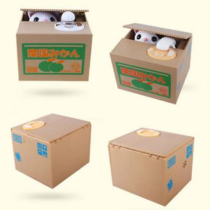 Hotsale Adorable Automated Stealing Coins Panda Saving Money Box Piggy Bank Gift