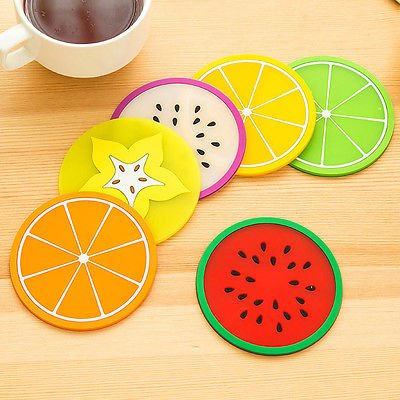 Soft Wood Slices Wooden Crafts Round Ornaments Coasters Tea Cup Holder 6pcs/Set