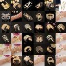 Gold Plated Bangle Bracelet Wristband Cuff Chain Friendship Jewelry Link Drill
