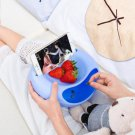 New Cute Smile Silicone Placemat Plate Dish Food Tray Table Mat for Baby Toddle