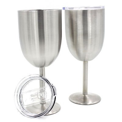 7oz. Stainless Steel Crisp Martini Glass