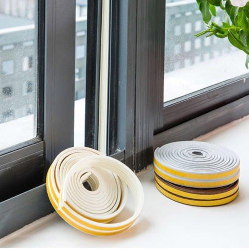 5M D-type Foam Draught Self Adhesive Window Door Excluder Rubber Seal Strip Roll