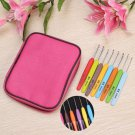 22Pcs Set Stainless Steel Multi-colour Crochet Hooks Needles Knit Weave Craft
