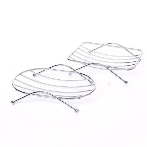 Non Rust STRONG Suction Stainless Steel Bathroom Shower Soap Dish Holder Rack