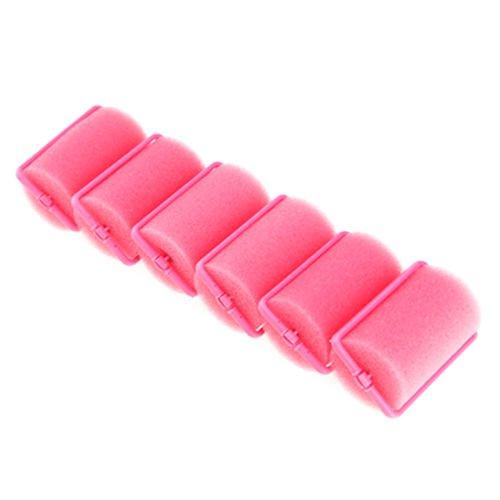 6 x Pro Fast Magic Soft Foam Sponge Curlers Strawberry Hair Rollers Curls Tool