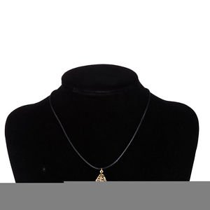 Lady Girl Party Jewelry Black Rope Cordl Long Pendant Double Leaf Drop Necklace