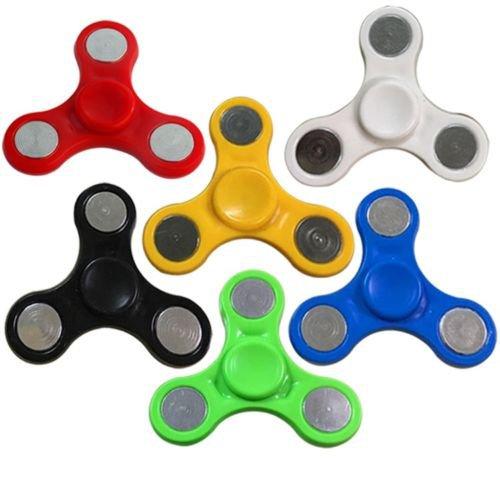 Black EDC Hand Spinner Tri-Spinner Fidget Finger Gyro Kid Adult Pocket Toy Gift