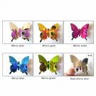 Pink Eyes Butterfly Heart Home Decor Wall Stickers Girls Room Decoration