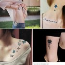 Black Metallic Flash Temporary Tattoos Stickers Temporary Body Art Tatoo