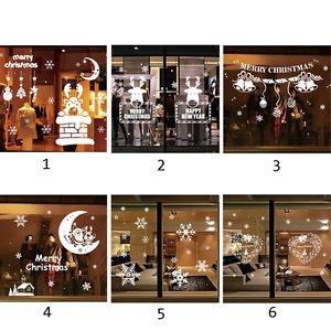 White Snowflake Merry Christmas Vinyl Wall Sticker Decals New Year Window Decor