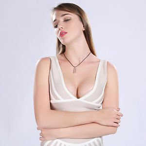 Women Pendant Necklace Bridal Crystal Fashion Rope Wedding Rhinestone Jewelry
