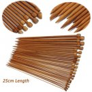 18x 80cm Multicolor Tube Circular Carbonized Bamboo Knitting Needles Set 18Sizes