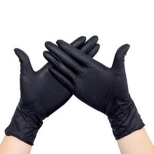 100PCS STRONG BLACK LATEX FREE DISPOSABLE GLOVES MEDICAL LABORATORY TATTOO S M L