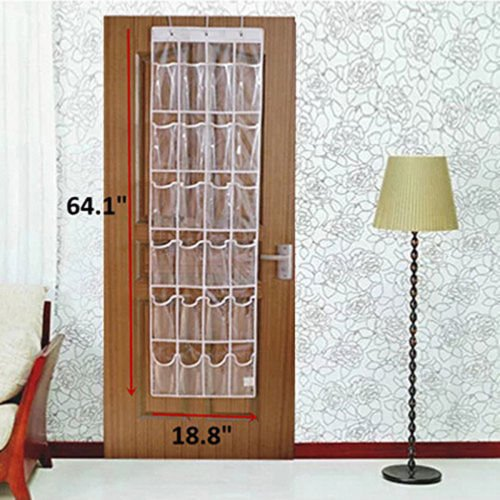 One-piece 24Pocket Shoe Space Door Hanging Organizer Rack Wall Bag Closet Holder