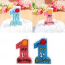 Creative Happy Birthday Letter Candles Toothpick Cake Cute Candle Kids Party Dec