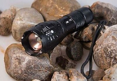 Pratical 5000LM Zoom CREE XM-L Q5 LED Flashlight Torch Super Bright Light