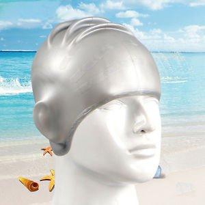 Swimming Cap, Hicool High-Quality Waterproof Sili coneearmuffs swim diving hat