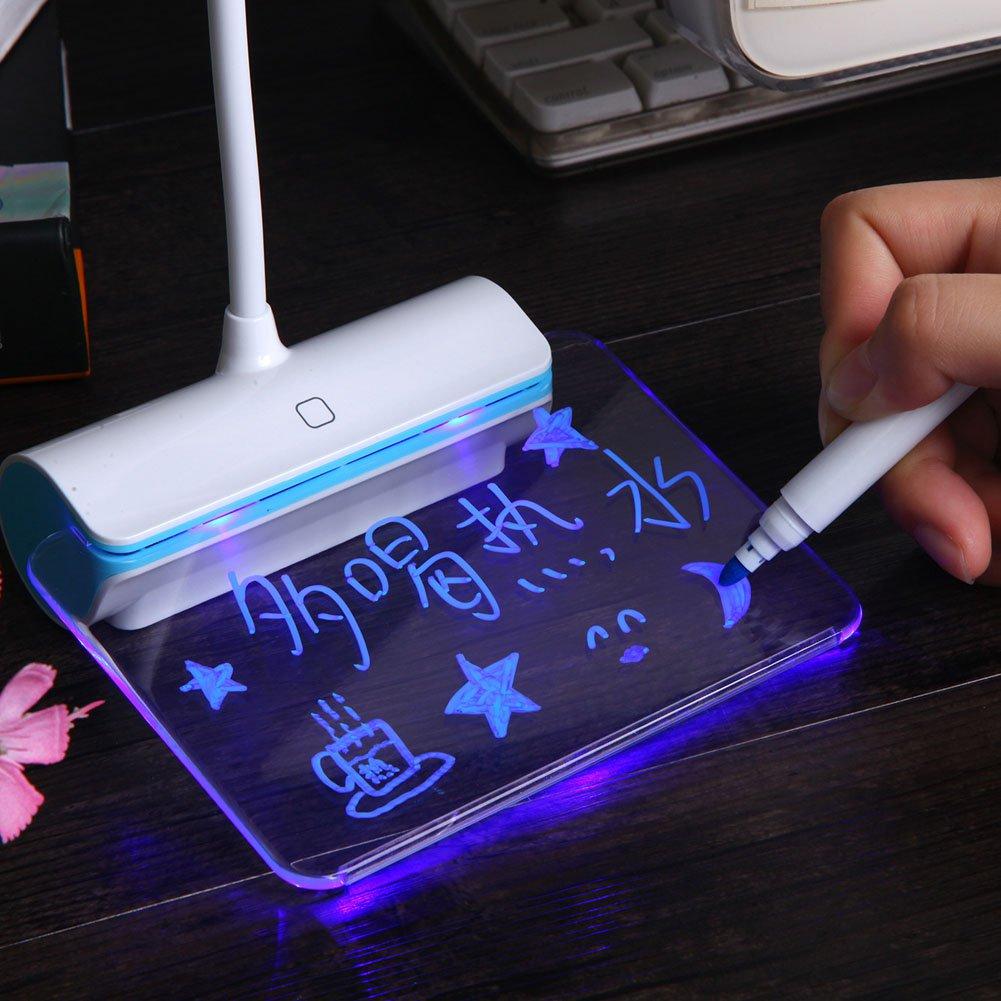 White Light USB LED Desk Lamp Eye-caring Table Night Light Touch Sensitive