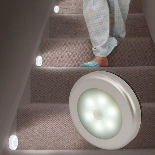 Morden WarmWhite PIR Motion Sensor Night Light Cabinet Wardrobe Drawer Lamp Bulb