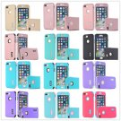 Multi Solid Color Pattern Leather Flip Case Cover For Apple iPhone 4/4S 5 5s Hot
