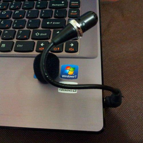 Foldable 3.5mm Flexible Microphone Mic Fr PC Laptop Skype MSN Chat Mini Protable