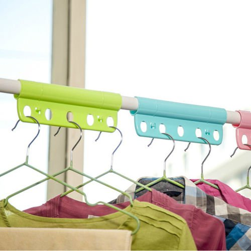 10pcs Candy Color Metal Roll Hoist Five Shower Curtain Hooks