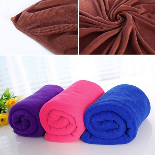 Cute Ear Soft Lady Hair Wrap Head Towel Turban Twist Drying Cap Loop Button Hat
