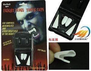 Halloween Props Fancy Vampire Teeth Denture Fangs Bites Costume Werewolf Hot