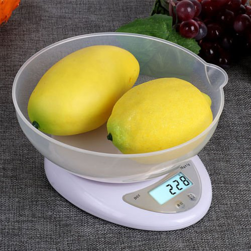 11 lbs x 1g Digital Kitchen Food Diet Weighing Balance Scale with Removable Bowl