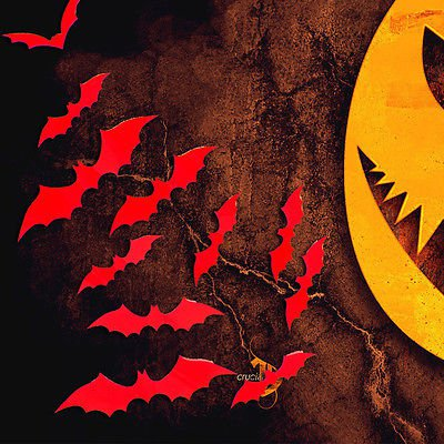 HALLOWEEN Party Decoration Prop Decal Spooky Vampire BATS FULL  HANGING MOBILE