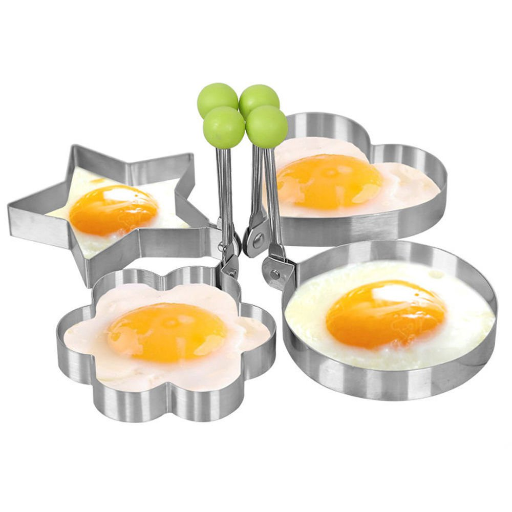 Kitchen Cooking Mold Fried Egg 4 Shapes Tool Ring Pancake Mould Stainless Steel