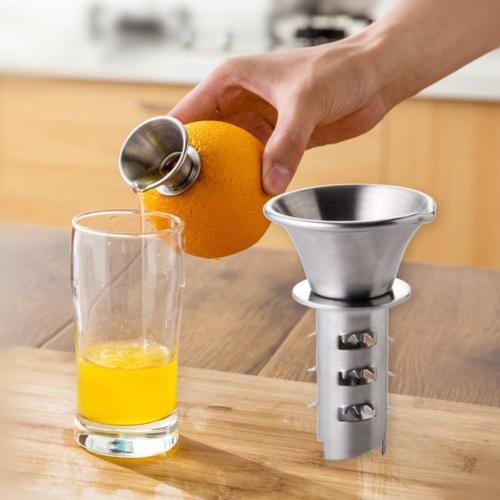 Portable Manual Hand Citrus Juicer Orange Squeezer Lemon Fruit Press Juice