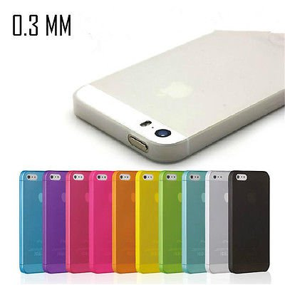 0.3mm Silicone Ultra Thin Matte hard case cover Skin For iPhone 5S SE 6S 7 Plus