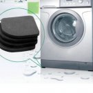 4PCS Black Refrigerator Mute Mat Washing Machine Anti Vibration Pad Shock Mats