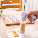 Decorating Cookies Decorating Gun 12 Motif+6 Cream Mouth Decorating Cook Tools