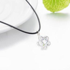 Hot Fashion Charm Rhinestone Drop Star Crystal Long Pendant Rope Cord Necklace