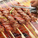 50pcs Stainless Steel 35cm Barbecue Sticks Skewers BBQ Meat Kebab Kabob Needle