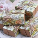 Gold Silver Wedding Favour Gift Candy Boxes Decoration with Ribbon Party Box
